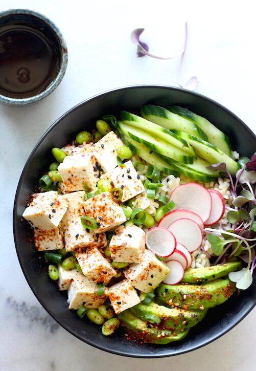 poke bowl recept - poke bowl - poke bowl maken - poke bowl vega - vegetarische poke bowl - vegetarische recepten