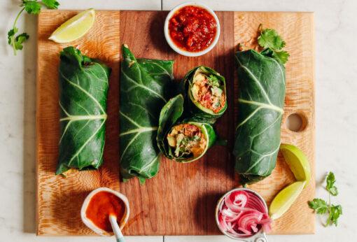 vegan burrito recept - burrito van kool - vegan burrito - vegan burrito maken - koolhydraatarme burrito - veganistsiche burrito