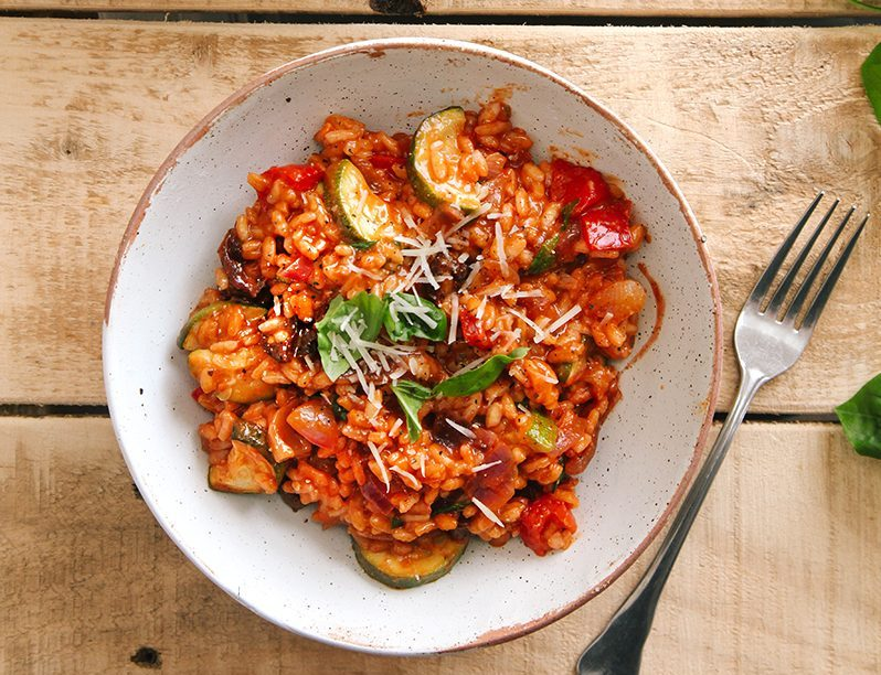 vegan recepten - veganistische recepten - risotto recepten - gezonde recepten - makkelijke recepten - lekkere recepten