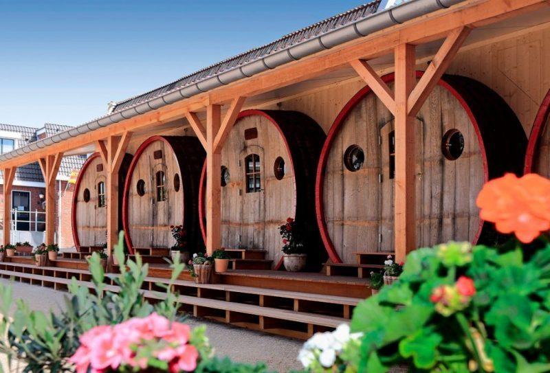 slapen in een wijnvat - wijnvat hotel - bijzonder hotel - bijzonder accomodaties - overnachten in een wijnvat